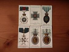 6 Antique Cards From Ogden's Orders Of Chivalry Cigarette Cards