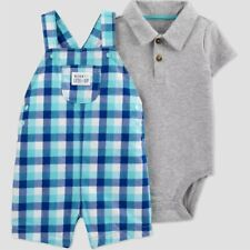 Baby Boys' 2pc Plaid Shortall Set - Just One You® made by Carter's from Target