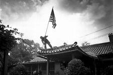 New 5x7 Korean War Photo: Raising U.S. Flag at American Consulate in Seoul 1950