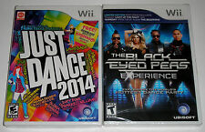 Nintendo Wii Game Lot - Just Dance 2014 NEW The Black Eyed Peas Experience NEW