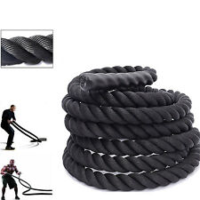 "40' 1.5"" Poly Dacron Battle Rope Heavy Climbing Training Fitness Strength"