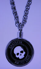 "Medallion Holder - Silver Plated - Thick 30"" Chain"