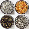 2.4mm 4mm 6mm 8mm SILVER Bronze Gold Metal Round Ball Smooth SPACER BEADS DIY