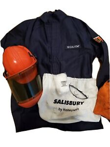 Salisbury Xlarge 12 Cal Arc Flash Coverall & Helmet