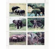 Elefanti - come Nuovo Foglio di 6 Francobolli Nuovo senza Linguella - 3a-336