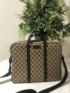 GUCCI O BRIEFCASE w/ handles &  removable shoulder  Strap  - Brand New!