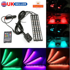 12 LED Car Interior Footwell Lights RGB Multicolour Remote Atmosphere Decor Lamp