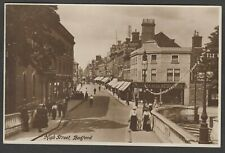 Postcard Bedford Bedfordshire early view of High Street RP Timaeus