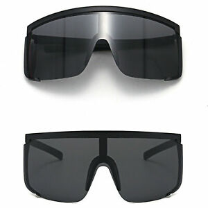 Oversized Mirrored Shield Sunglasses Outdoor Sport Protection Goggles UV Glasses