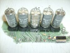 4 lot 16-Pin NIXIE TUBE National Electronics NL5441 Burroughs + NL5442 + sockets