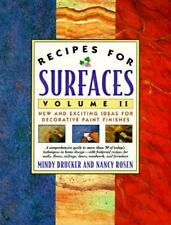 Recipes for Surfaces Vol. II by Mindy Drucker & Nancy Rosen (1995 PB) HH1740