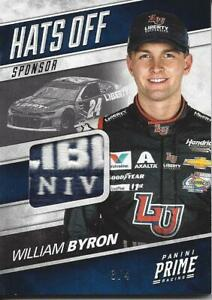 WILLIAM BYRON 2018 PANINI PRIME RACING HATS OFF SPONSOR PATCH (/4) SICK PATCH!!!