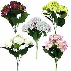 Large Hydrangea Blossom Bouquet! Artificial Silk Wedding Fake Flowers Bunch
