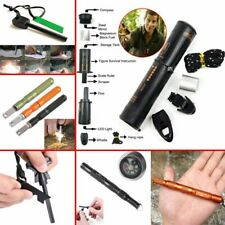Outdoor EDC Tool Survival Camping Gear Kit Magnesium Fire Starter Flint Stone