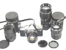 Sears TLS SLR camera Sold with five lenses & acc. Nice complete vintage SLR set!