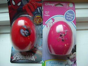 New Easter Egg Shaped Stamper Marvel Spiderman or Disney Minnie mouse U-PICK