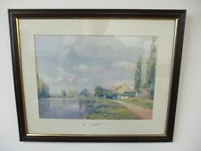 Framed Art Print 'The Restaurant', Wood Frame, Artist Paul Mathieu, 56cm x 46cm