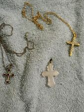 Lot of Cross Jewelry~Quartz Crystal and More!