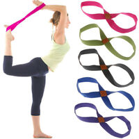 Gym Rope Fitness Waist Leg Yoga Strap Belt Exercise Bands With Stretch B wa