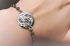 Bdsm Symbol triskele Metal Chain Bracelet Man Woman Submissive Dominant gift