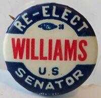 1950s Delaware Political Election Campaign Pin John Williams Republican Senator