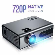 Mini Projector, Native 720P Portable Movie Projector with 3200 Lumen