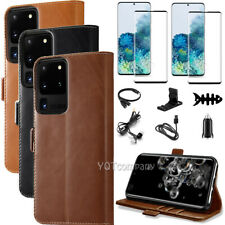 For Samsung Galaxy S20/S20+/S20 Ultra Case Leather Wallet Flip Shockproof Cover