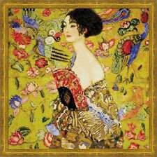 "Counted Cross Stitch Kit RIOLIS - ""Lady with a Fan after G. Klimt`s Painting"""
