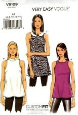"Vogue Sewing Pattern V9109 9109 ""Very Easy Vogue"" Misses Top 6-14 14-22"