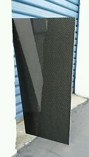 "Real Carbon Fiber Fiberglass Panel Sheet 6""x18""x1/8"" Glossy Both Sides"