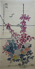 "Excellent Chinese 100% Handed Painting & Scroll ""Flowers"" By Qi baishi 齐白石 AW7"