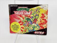 Teenage Mutant Ninja Turtles II 2 TMNT Instruction Manual Booklet Nintendo Nes
