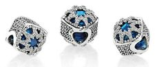 NEW!! Authentic Pandora Silver Glacial Beauty Blue Charm 796360NSB