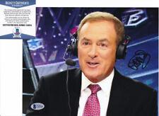 Al Michaels NBC Sports Signed Autograph 8x10 Photo Beckett BAS COA #2