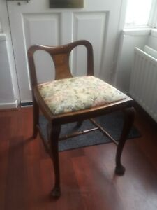 Queen Anne Style Dining Chair / Stool Rare Type