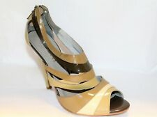 1afeba6b6655 SACHI Brand Olive Greens Leather Patent Strappy Heels Size 10 NEW