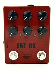 """METAL OX, OXP-101 """"Fat Ox"""" Heavy Distortion Guitar Effect Pedal (From UK)"""