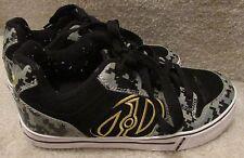 Heelys Roller Shoes Motion Grey Yellow Camo 770153 Size Youth 4 EUC Super Shape