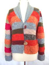 Hüftlange Damen-Pullover & -Strickware mit Stehkragen und Knöpfen