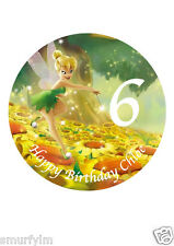 "Tinker Bell Disney Cake Topper Party Personalized Edible Wafer Paper 7.5""img a23"