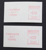 Frankreich postfrische Automatenmarken Spezial-SLG, Montgeron Atteste 20.000 EUR