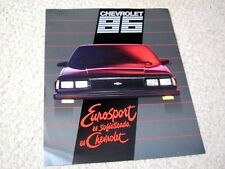 1986 MEXICAN CHEVROLET EUROSPORT SALES BROCHURE..