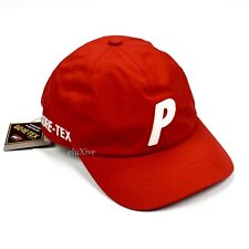 NWT Palace Gore-Tex P-Logo 6-Panel Waterproof Hat Cap Red White FW20 AUTHENTIC