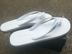 NEW PS Paul Smith Dale flip flops white Large