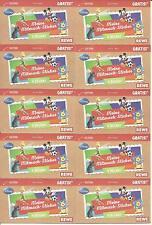 Rewe Meine Mitmach Sticker Disney Sammelsticker 10x 4 Stück