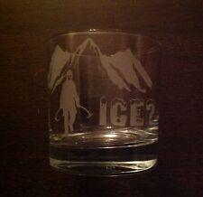 SANCTUARIES EDGE GOT ICE AXE MOUNTAIN CLIMBING ETCHED WHISKEY GLASS GIFT PRESENT
