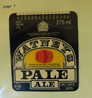 VINTAGE BRITISH BEER LABEL - STAG BREWERY, WATNEYS PALE ALE 275 ML