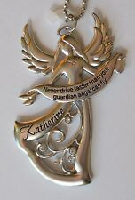 a Katherine Never Drive faster than your GUARDIAN ANGEL can fly CAR CHARM ganz