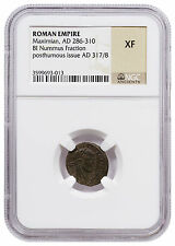 Roman Empire Billon Nummus Fraction of Maximian Posthumous Issue NGC XF SKU47621