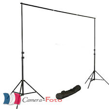 Kit Nouveau Photo Studio Support de Fond 2.8x3m avec Sac à Transporter